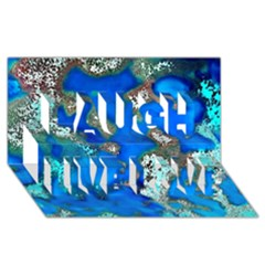 Cocos Reef Sinkholes Laugh Live Love 3D Greeting Card (8x4)