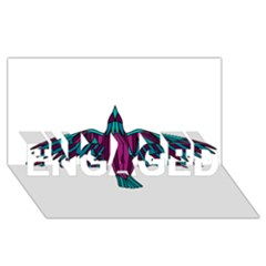 Stained Glass Bird Illustration  Engaged 3d Greeting Card (8x4)