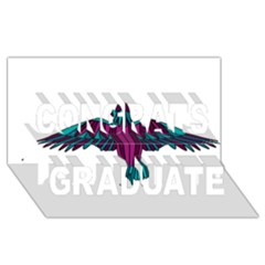 Stained Glass Bird Illustration  Congrats Graduate 3D Greeting Card (8x4)
