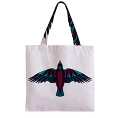 Stained Glass Bird Illustration  Grocery Tote Bags