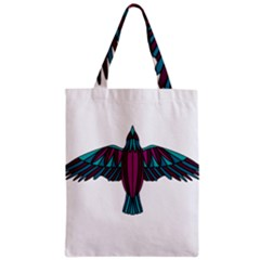 Stained Glass Bird Illustration  Classic Tote Bags