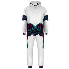 Stained Glass Bird Illustration  Hooded Jumpsuit (Men)