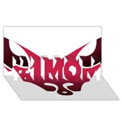 Fox Logo Red Gradient  #1 MOM 3D Greeting Cards (8x4)