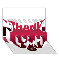 Fox Logo Red Gradient  Thank You 3d Greeting Card (7x5)