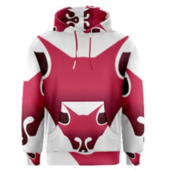 Fox Logo Red Gradient  Men s Pullover Hoodies