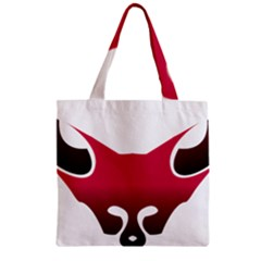 Fox Logo Red Gradient  Zipper Grocery Tote Bags
