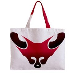 Fox Logo Red Gradient  Zipper Tiny Tote Bags