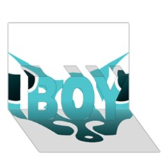 Fox Logo Blue Gradient Boy 3d Greeting Card (7x5)