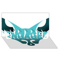 Fox Logo Blue Gradient Engaged 3d Greeting Card (8x4)