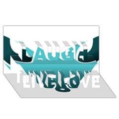 Fox Logo Blue Gradient Laugh Live Love 3D Greeting Card (8x4)
