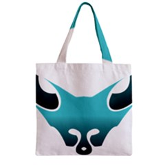 Fox Logo Blue Gradient Zipper Grocery Tote Bags