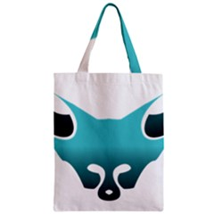 Fox Logo Blue Gradient Zipper Classic Tote Bags