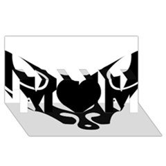 Black Fox Logo MOM 3D Greeting Card (8x4)