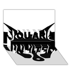 Black Fox Logo You Are Invited 3d Greeting Card (7x5)