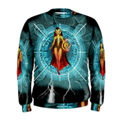 Beautiful Witch With Magical Background Men s Sweatshirts