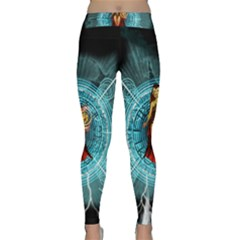 Beautiful Witch With Magical Background Yoga Leggings
