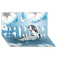 Wonderful Swan Made Of Floral Elements #1 MOM 3D Greeting Cards (8x4)