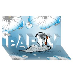 Wonderful Swan Made Of Floral Elements PARTY 3D Greeting Card (8x4)