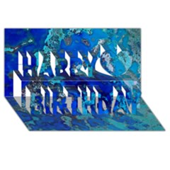 Cocos Blue Lagoon Happy Birthday 3d Greeting Card (8x4)