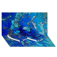Cocos Blue Lagoon Twin Heart Bottom 3d Greeting Card (8x4)