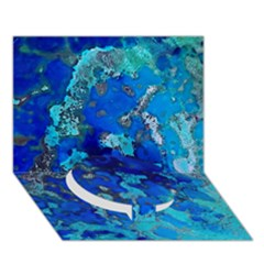 Cocos Blue Lagoon Circle Bottom 3d Greeting Card (7x5)