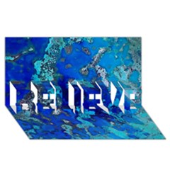 Cocos blue lagoon BELIEVE 3D Greeting Card (8x4)