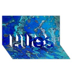 Cocos blue lagoon HUGS 3D Greeting Card (8x4)