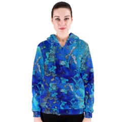 Cocos blue lagoon Women s Zipper Hoodies