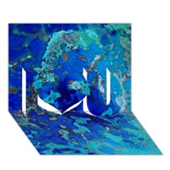 Cocos blue lagoon I Love You 3D Greeting Card (7x5)