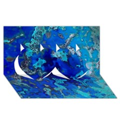 Cocos Blue Lagoon Twin Hearts 3d Greeting Card (8x4)