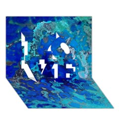 Cocos Blue Lagoon Love 3d Greeting Card (7x5)