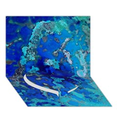 Cocos blue lagoon Heart Bottom 3D Greeting Card (7x5)