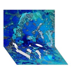 Cocos blue lagoon LOVE Bottom 3D Greeting Card (7x5)