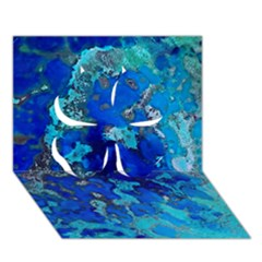 Cocos blue lagoon Clover 3D Greeting Card (7x5)