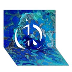 Cocos Blue Lagoon Peace Sign 3d Greeting Card (7x5)