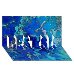 Cocos blue lagoon BEST SIS 3D Greeting Card (8x4)