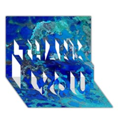 Cocos blue lagoon THANK YOU 3D Greeting Card (7x5)