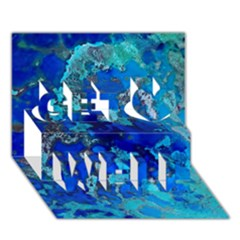 Cocos blue lagoon Get Well 3D Greeting Card (7x5)
