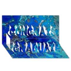Cocos blue lagoon Congrats Graduate 3D Greeting Card (8x4)