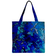 Cocos Blue Lagoon Zipper Grocery Tote Bags