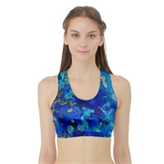 Cocos blue lagoon Women s Sports Bra with Border