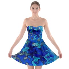 Cocos blue lagoon Strapless Bra Top Dress