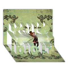 Cute Elf Playing For Christmas You Did It 3D Greeting Card (7x5)