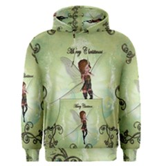 Cute Elf Playing For Christmas Men s Pullover Hoodies