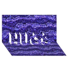 Alien Skin Blue HUGS 3D Greeting Card (8x4)