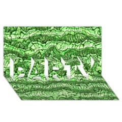 Alien Skin Green PARTY 3D Greeting Card (8x4)