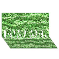 Alien Skin Green ENGAGED 3D Greeting Card (8x4)