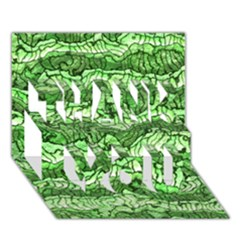 Alien Skin Green Thank You 3d Greeting Card (7x5)