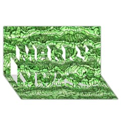 Alien Skin Green Merry Xmas 3D Greeting Card (8x4)