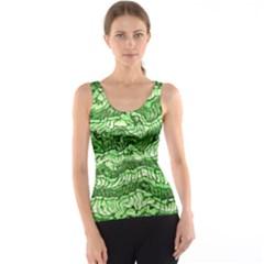Alien Skin Green Tank Tops